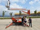 西双版纳国际机场订购我司SMX250履带式自行蜘蛛机